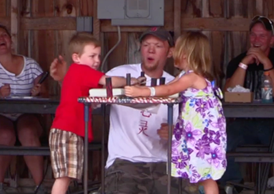 Lamoille County Field Days 2015: Children's Arm Wrestling