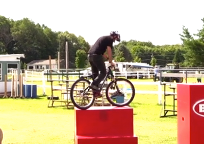 Lamoille County Field Days 2015: Chris Clark Bike Stunt Showcase