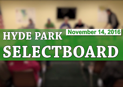 Hyde Park Selectboard, 11/14/16