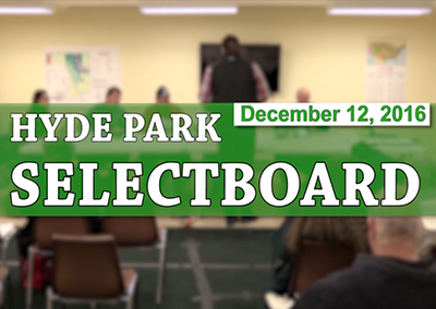 Hyde Park Selectboard, 12/12/16
