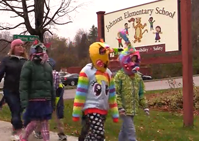 Johnson Elementary School Mask Parade