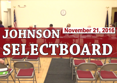 Johnson Selectboard, 11/21/16