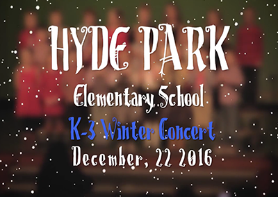 Hyde Park Elementary School Winter Concert, 2016