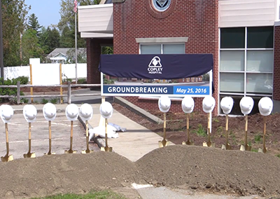 Copley Hospital Surgical Center Groundbreaking, 5/25/16