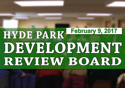 Hyde Park Development Review Board, 2/9/17