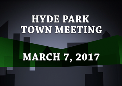 Hyde Park Town Meeting, 2017
