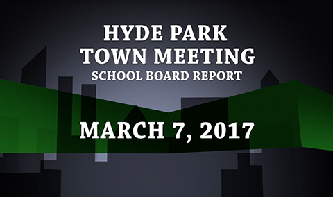 Hyde Park Town Meeting – School Board, 2017