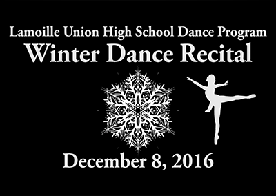 Lamoille Union High School Dance Winter Recital, 2016