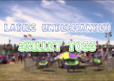 Lamoille County Field Days, 2016 – Ladies Underhanded Skillet Toss