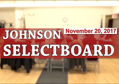 Johnson Selectboard, 11/20/17