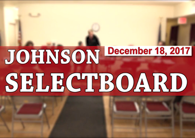 Johnson Selectboard, 12/18/17