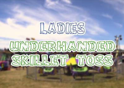Ladies Underhanded Skillet Toss