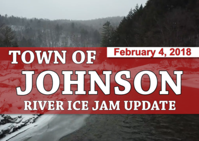 Town of Johnson, 2/4/18 – Lamoille & Gihon River Ice Jam Update 3