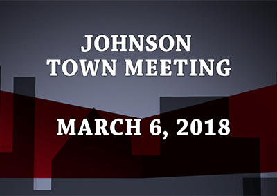 Johnson Town Meeting, 2018