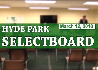 Hyde Park Selectboard, 3/12/18
