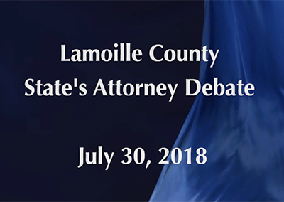 Lamoille County State's Attorney Debate, 2018