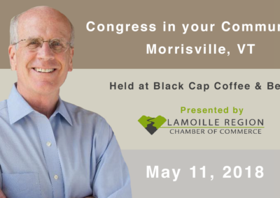 Congress in your community with Peter Welch, 5/11/18