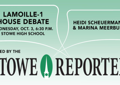 Stowe Reporter, 10/3/18 – Lamoille-1 House Debate