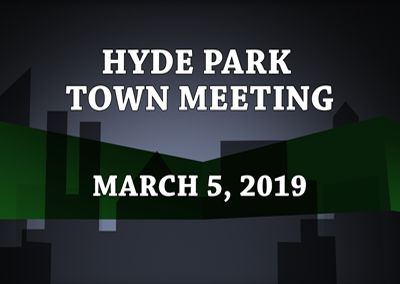 Hyde Park Town Meeting, 2019