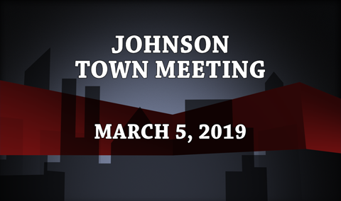 Johnson Town Meeting, 2019