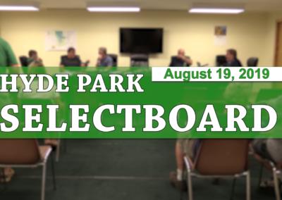 Hyde Park Selectboard, 8/19/19