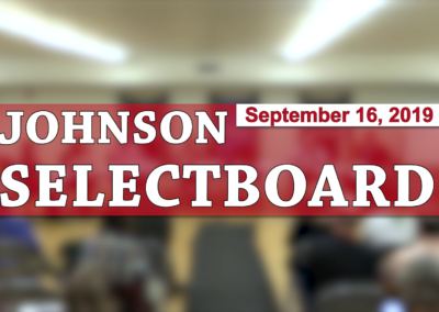 Johnson Selectboard, 9/16/19