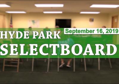 Hyde Park Selectboard, 9/16/19