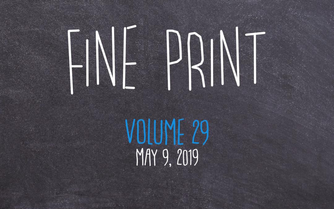 Fine Print, 2019