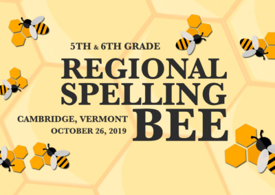 Vermont Principals' Association – Regional Spelling Bee, 10/26/19