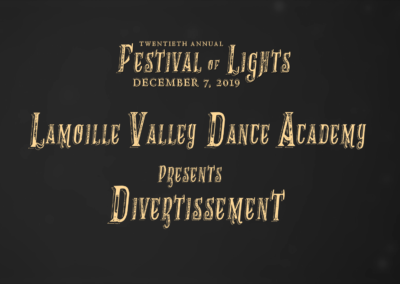 Festival of Lights, 2019 – Lamoille Valley Dance Academy