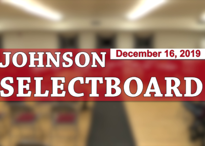Johnson Selectboard, 12/16/19
