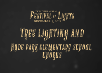 Festival of Lights, 2019 – Tree Lighting and Hyde Park Elementary School Chorus