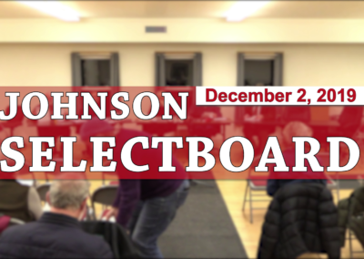 Johnson Selectboard, 12/2/19