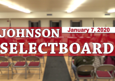 Johnson Selectboard, 1/7/20