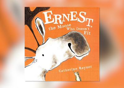 "Grannie Snow reads, ""Ernest the Moose Who Doesn't Fit"""